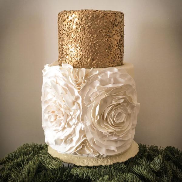 Christmas Gold Cake